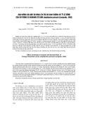 Ảnh hưởng của mật độ ương lên tốc độ sinh trưởng và tỷ lệ sống của ấu trùng cá khoang cổ cam Amphiprion percula (Lacepede, 1802)