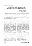 Tìm hiểu lập luận trong một số tác phẩm báo chí của Hồ Chí Minh