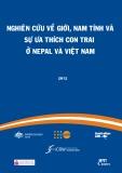 Báo cáo Nghiên cứu về giới, nam tính và sự ưa thích con trai ở Nepal và Việt Nam
