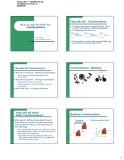 Bài giảng Bài 4: Các phép biến đổi đồ họa - Transformations  - Lê Tấn Hùng