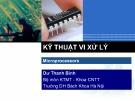 Bài giảng Kỹ thuật vi xử lý: Chương 5 - Dư Thanh Bình