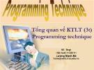 Bài giảng Programming technique: Chương 1 - Lương Mạnh Bá
