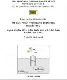 Mô đun Phân tích bằng điện hóa - Nghề: Phân tích dầu thô, khí và các sản phẩm lọc dầu (Phần 1)