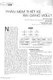 Phần mềm thiết kế bài giảng violet