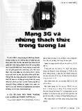 Mạng 3G và những thách thức trong tương lai