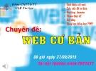 Chuyên đề: Web cơ bản