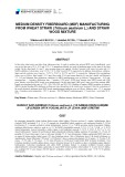 Medium density fiberboard (MDF) manufacturing from wheat straw (triticum aestivum l.) and straw wood mixture