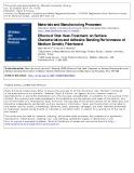 Effects of Post Heat-Treatment on surface characteristics and adhesive bonding performance of medium density fiberboard