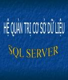 Bài giảng Hệ quản trị cơ sở dữ liệu (SQL server)