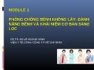 Bài giảng Module 1 Phòng chống bệnh không lây: Gánh năng bệnh và khái niệm cơ bản sàng lọc - PGS.TS.BS. Lê Hoàng Ninh