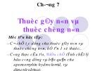 Bài giảng Chương 7: Thuốc gây nôn và thuốc chống nôn