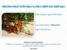 Bài thuyết trình: Phương pháp tưới cho cà chua trên đất khô hạn