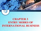 Chapter 3: Entry modes of international business