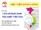 Bài giảng Lịch sử hành chính Nhà nước Việt Nam: Chương 2 - ThS. Nguyễn Xuân Tiến