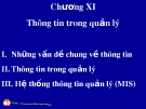 Bài giảng Quản trị học đại cương: Chương 11 - ThS. Trương Quang Vinh