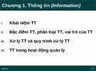 Bài giảng Tin học đại cương: Chương 1 - Thông tin