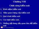 Bài giảng Quản trị học đại cương: Chương 8 - ThS. Trương Quang Vinh