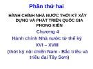 Bài giảng Lịch sử hành chính Nhà nước Việt Nam: Chương 4 - ThS. Nguyễn Xuân Tiến