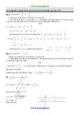 Các bài tập dễ và cơ bản về khảo sát hàm số trong ôn thi đại học năm 2012 -2013