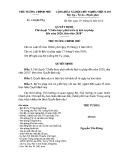 Quyết định số: 338/QĐ-TTg
