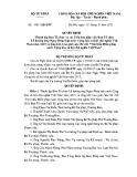 Quyết định số: 1481/QĐ-BTP