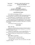 Quyết định số: 97/QĐ-BTP