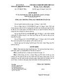Quyết định số: 2797/QĐ-TCTHA