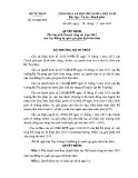 Quyết định số: 501/QĐ-BTP