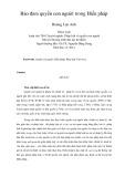 Tóm tắt Luận văn Thạc sĩ: Bảo đảm quyền con người trong Hiến pháp