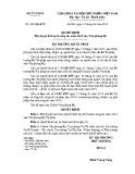 Quyết định số: 291/QĐ-BTP