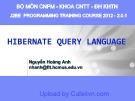 Bài giảng Hibernate query language - Nguyễn Hoàng Anh