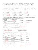 Các đề kiểm tra 1 tiết lần 1 môn: Tiếng Anh lớp 10 - Học kỳ 1 (Có đáp án)