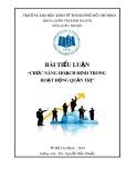 Bài tiểu luận: Chức năng hoạch định trong hoạt động quản trị