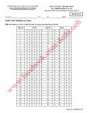 Đề thi thử kết thúc học phần: Quản trị học - Mã đề 158