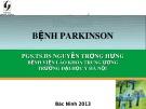 Bài giảng Bệnh parkinson - PGS.TS.BS. Nguyễn Trọng Hưng
