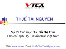 Bài giảng Thuế tài nguyên - TS. Đỗ Thị Thìn