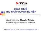 Bài giảng Luật Thuế thu nhập doanh nghiệp - Nguyễn Thị cúc