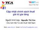 Bài giảng Cập nhật chính sách thuế giá trị gia tăng - Nguyễn Thị Cúc