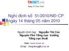 Bài giảng Nghị định số 51/2010/NĐ-CP ngày 14 tháng 05 năm 2010 - Nguyễn Thị Cúc