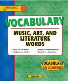 Vocabulary Music, Art, and Literature words (Vocabulary in context): Part 1