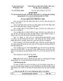 Quyết định số: 38/2014/QĐ-UBND tỉnh Trà Vinh