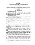 Quy chế về công tác lễ tân trong việc tổ chức các hoạt động đối ngoại của Thành phố Hà Nội