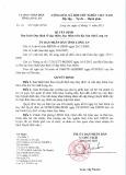 Quyết định số: 44/2015/QĐ-UBND tỉnh Long An