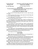 Quyết định số: 36/2014/QĐ-UBND tỉnh Trà Vinh