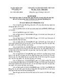Quyết định số: 61/2013/QĐ-UBND
