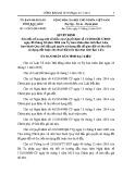 Quyết định số: 13/2015/QĐ-UBND