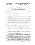 Quyết định số: 43/2014/QĐ-UBND tỉnh Trà Vinh