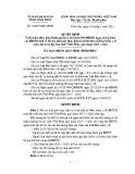 Quyết định số: 18/2015/QĐ-UBND tỉnh Vĩnh Phúc