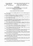 Quyết định số: 27/2015/QĐ-UBND tỉnh Cao Bằng