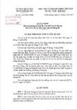 Quyết định số: 08/2015/QĐ-UBND tỉnh Tuyên Quang